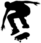 skater silhouette ollie